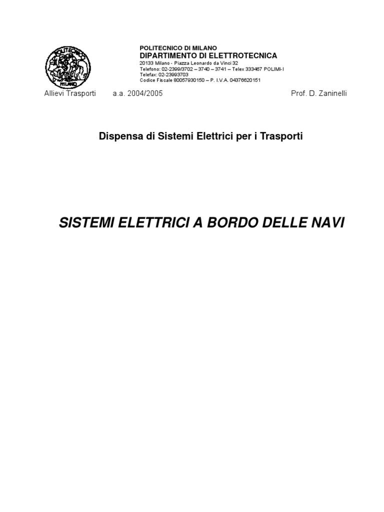 Schemi Elettrici Navali : Sistemi elettrici per applicazioni navali