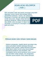 Rancangan Acak Kelompok (Rak)