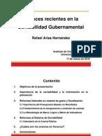 Avances recientes en la Contabilidad Gubernamental. Rafael Arias Hernández