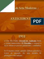 Semana de Arte Moderna - Antecedentes