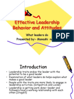 Leadership Behavior and Attitudes