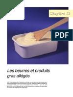 Les beurres et produits gras allégés