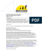 Newsletter August 9 2011