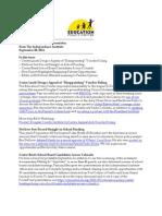 Newsletter September 28 2011