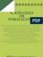 Catalogo de Piblicaciones Iep,