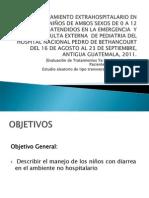 Tipo de Tratamiento extrahospitalario en diarreas en niños de 0 a 12 años en Hospital de Antigua Guatemala