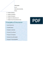 Seven Principles of Insurance With Examples