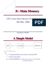 Lect14.LecMar09 2006.CPU Cahce Main Memory Performance