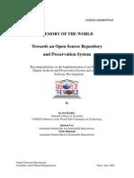 UNESCO Towards an Open Source Repository