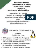Aulas 07 -Fundamento à Informática Software Linux