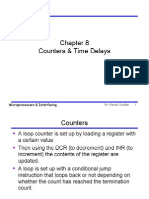 Counters & Time Delays | Control Flow | Central Processing Unit