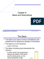 Stack and Subroutines