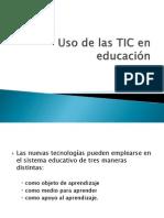 Uso de las TIC en educación