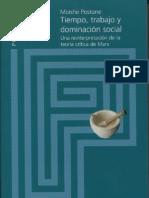 Tiempo, Trabajo y Dominacion Social (Postone)