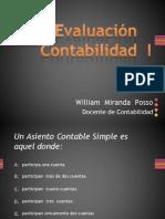 Evaluación multimedial Contabilidad I