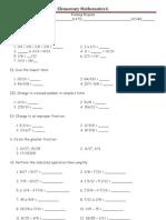 Grade 6 Fraction