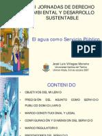El agua como servicio público, por José Luis Villegas