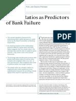 FRBNY - Capital Ratios as Predictors of Bank Failure