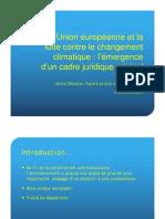 Marco Jurídico Europeo sobre Cambio Climático, por Emilie Chevalier