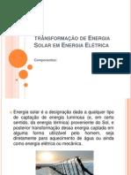 Apresentação - Converção de energia solar em eletrica