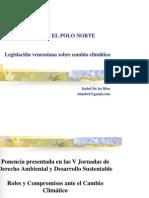 Marco Jurídico Nacional sobre Cambio Climático, por Isabel de los Ríos