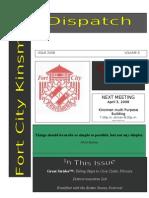 Fort City Kinsmen Dispatch Issue 2007 Vol 12