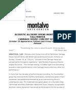 Acoustic Alchemy Opens Montalvo