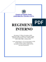 Regimento Interno ALES