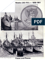 USS John W. Weeks DD 701 Ships book for 1958~61