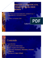 Marco Legal Nacional relativo a los desechos sólidos, por Isabel De los Ríos
