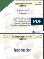 Organizacion Como Sistema