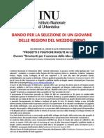 Bando Inu 2011 Borsa Corso Fondazione Nitti