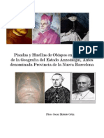 Huellas y Pisadas de Obispos en La Area de La Geografia Del Estado Anzoategui Antes ada Nueva Barcelona