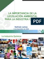 Importancia de la Legislación Ambiental para la industria química, por Nathaly Lamas