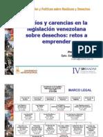 Vacíos y carencias en la legislación venezolana sobre desechos