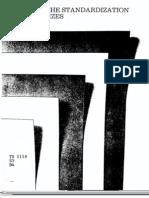 Standardization of Paper Sizes