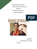 Ideario de Simon Bolivar