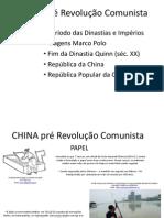 CHINA pré Mao