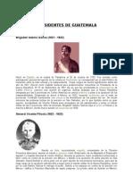 PRESIDENTES DE GUATEMALA[1]