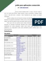 Guia substitutos gratis para aplicações comerciais