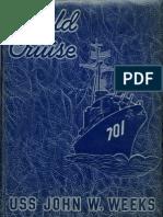 Cruise Book 1953 USS John W. Weeks DD 701 World Cruise