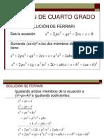 ECUACIÓN DE CUARTO GRADO