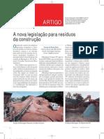 A Nova Legislacao Para Residuos Da Construcao