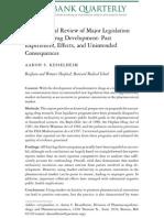 An Empirical Review of Major Legislation Affecting Drug Development (Kesselheim 2011)