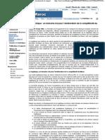 Maroc - La logistique _ un domaine clé pour l'amélioration de la compétitivité du Maroc