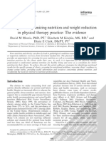 2009, Strategies for Optimizing Nutrition and Weight Reduction in Physical Therapy Practice- The Evidence.