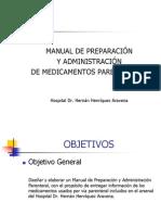 Manual de preparación y administración de medicamentos parenterales