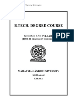 MG University B Tech (Scheme & Syllabi) 2002-2003