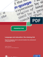 Language Education the Missing Link