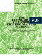 IRPS 101 The Economics of Hybrid Rice Production in China